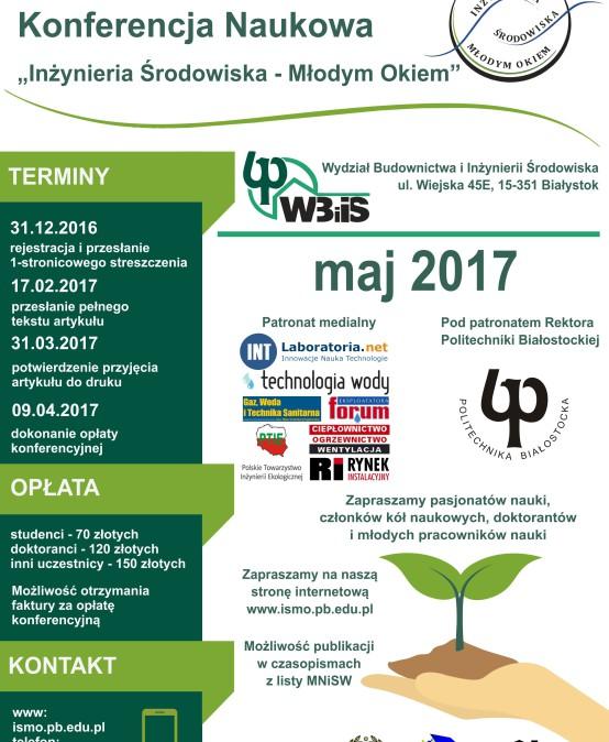 """Międzynarodowa Konferencja Naukowa """"Inżynieria Środowiska – Młodym Okiem"""""""