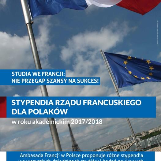 Programy stypendialne rządu francuskiego 2017/2018