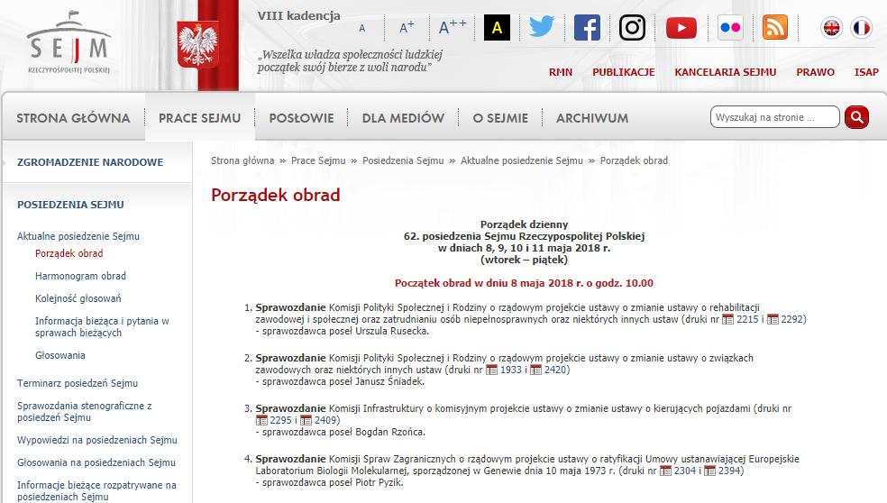 Pierwsze czytanie ustawy 2.0 w Sejmie