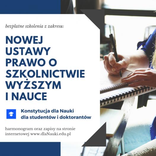 Projekt szkoleń www.dlanauki.edu.pl wystartował!