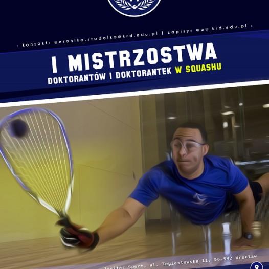 Fotorelacja z I Mistrzostw Doktorantów i Doktorantek w Squashu!