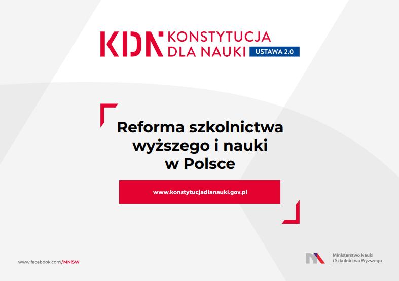 Prezentacja projektu założeń do ustawy Prawo o szkolnictwie wyższym – #doktorat 2.0