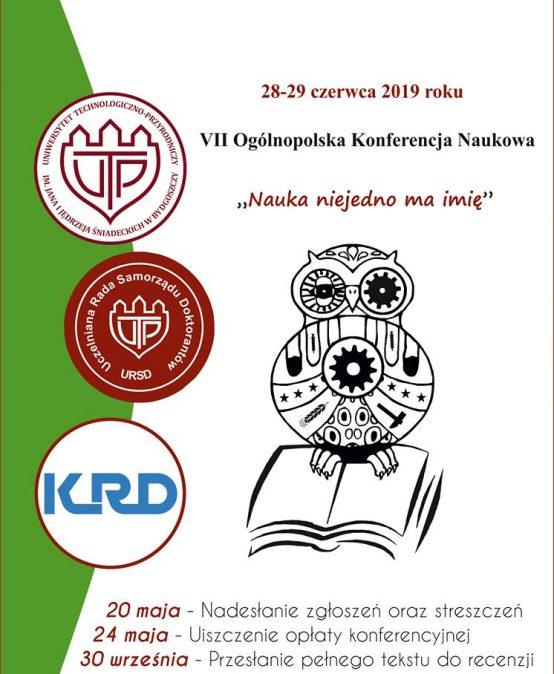 "VII Ogólnopolska Konferencja Naukowa ""Nauka nie jedno ma imię…"" – 28-29.06.2019"